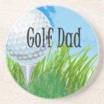 Diseño del PAPÁ del golf Posavasos Diseño