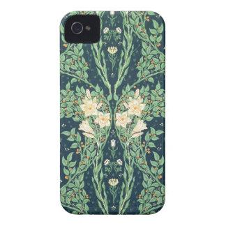 Diseño del papel pintado de Francisca iPhone 4 Case-Mate Protectores
