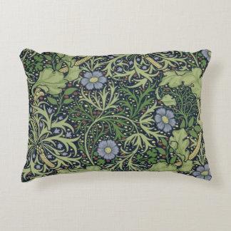 Diseño del papel pintado de la alga marina, cojín decorativo