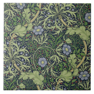 Diseño del papel pintado de la alga marina impres azulejos