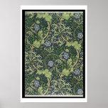 Diseño del papel pintado de la alga marina, impres impresiones