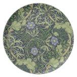 Diseño del papel pintado de la alga marina, impres platos de comidas