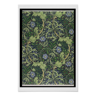 Diseño del papel pintado de la alga marina, impres póster