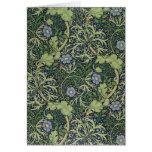 Diseño del papel pintado de la alga marina, impres felicitación