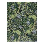 Diseño del papel pintado de la alga marina, impres postales