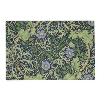 Diseño del papel pintado de la alga marina, salvamanteles