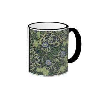 Diseño del papel pintado de la alga marina, taza de dos colores