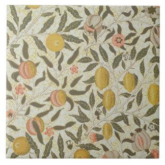 Diseño del papel pintado de la fruta o de la grana azulejo cuadrado grande