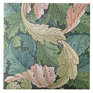 """Diseño del papel pintado del """"Acanthus"""", 1875 Azulejo Cuadrado Grande"""