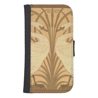 Diseño del papel pintado del cisne billeteras para teléfono