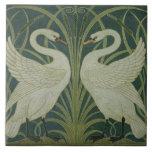 """Diseño del papel pintado del """"cisne, de la precipi azulejos ceramicos"""