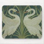 """Diseño del papel pintado del """"cisne, de la precipi tapetes de raton"""