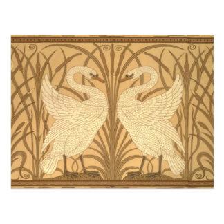 Diseño del papel pintado del cisne postales