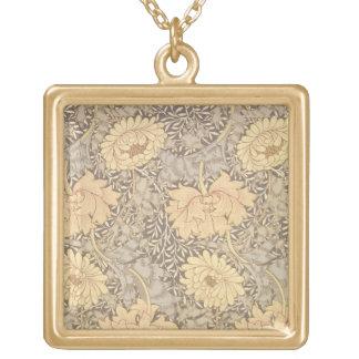 """Diseño del papel pintado del """"crisantemo"""", 1876 collar dorado"""