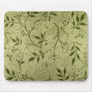 """Diseño del papel pintado del """"jazmín"""", 1872 alfombrillas de ratón"""