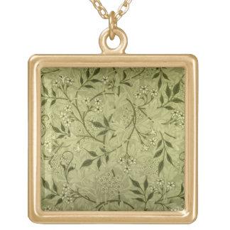 """Diseño del papel pintado del """"jazmín"""", 1872 collar dorado"""