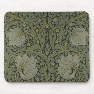 """Diseño del papel pintado del """"Pimpernel"""", 1876 Tapetes De Raton"""