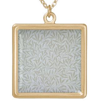 Diseño del papel pintado del sauce, 1874 collar dorado