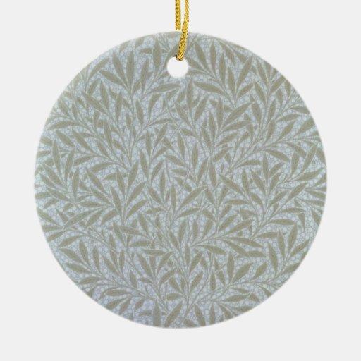 Diseño del papel pintado del sauce, 1874 adorno redondo de cerámica