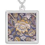 Diseño del papel pintado floral de William Morris Collar Plateado
