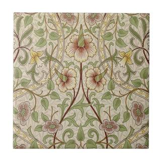 Diseño del papel pintado floral del vintage - narc azulejo cuadrado pequeño