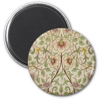 Diseño del papel pintado floral del vintage - narc imán redondo 5 cm