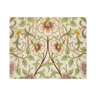Diseño del papel pintado floral del vintage - narc impresiones de lienzo
