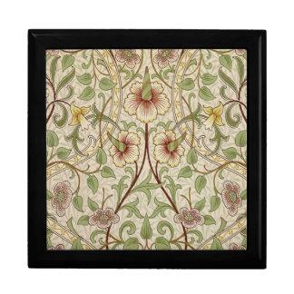 Diseño del papel pintado floral del vintage - narc joyero cuadrado grande