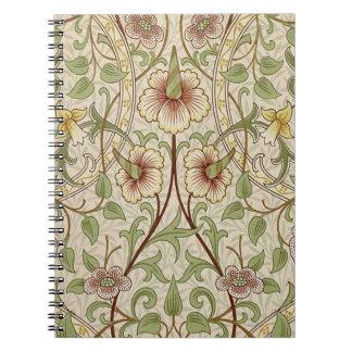 Diseño del papel pintado floral del vintage - narc spiral notebooks