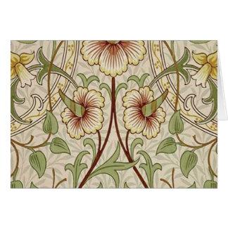 Diseño del papel pintado floral del vintage - narc tarjeta de felicitación