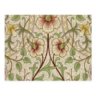 Diseño del papel pintado floral del vintage - postal