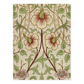 Diseño del papel pintado floral del vintage - tarjeta postal