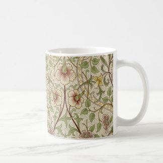Diseño del papel pintado floral del vintage - taza