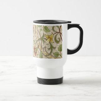 Diseño del papel pintado floral del vintage - taza térmica