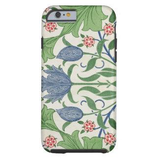 Diseño del papel pintado floral funda resistente iPhone 6