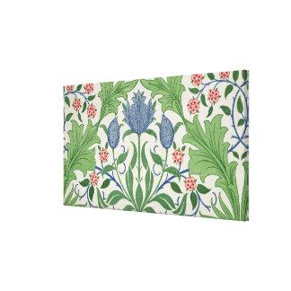 Diseño del papel pintado floral lona estirada galerias