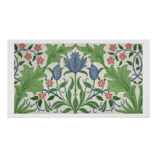 Diseño del papel pintado floral posters