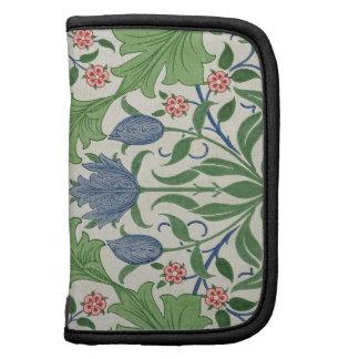 Diseño del papel pintado floral planificador