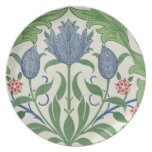 Diseño del papel pintado floral platos de comidas