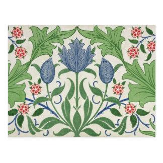 Diseño del papel pintado floral tarjetas postales