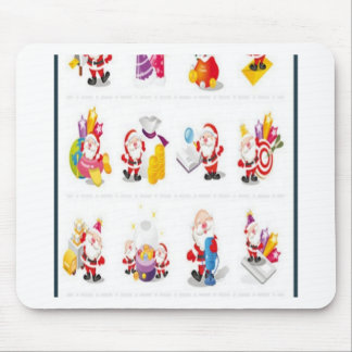 Diseño del paquete del navidad mouse pads