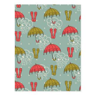 Diseño del paraguas de la estación de lluvias postales