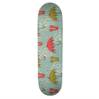 Diseño del paraguas de la estación de lluvias tabla de skate