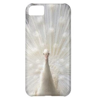 Diseño del pavo real del albino funda para iPhone 5C