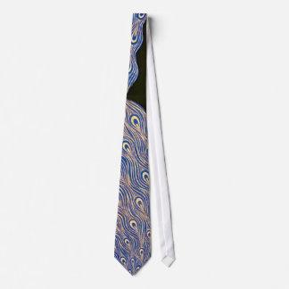Diseño del pavo real del vintage corbata personalizada