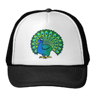 Diseño del pavo real gorras