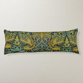 Diseño del pavo real y de la tapicería de William Almohada