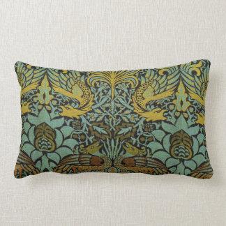 Diseño del pavo real y de la tapicería de William Cojin