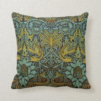 Diseño del pavo real y de la tapicería de William Cojín