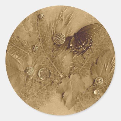 Diseño del pegatina del collage de la naturaleza